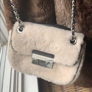 Michael Kors small purse shoulder bag faux fur